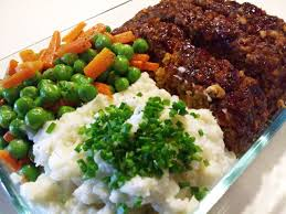 plate with food and peas